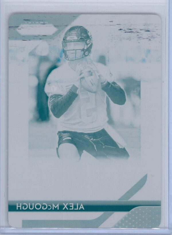 Alex McGough Panini Plates and Patches 2020 Prizm Cyan Plate
