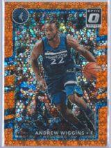 Andrew Wiggins Panini Donruss Optic Basketball 2017-18  Fast Break Orange 119193