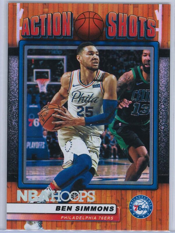 Ben Simmons Panini NBA Hoops Basketball 2018-19 Action Shots