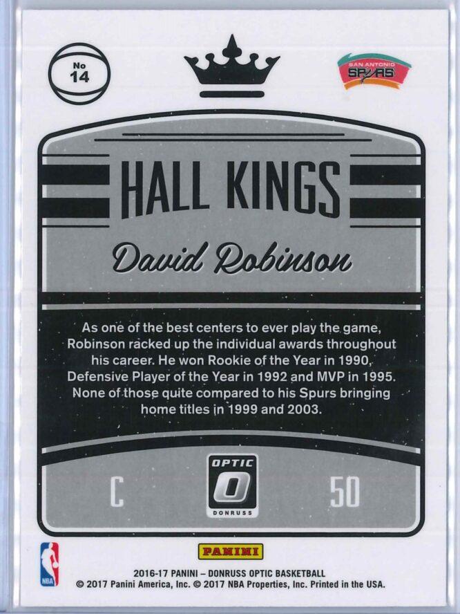David Robinson Panini Donruss Optic Basketball 2016 17 Hall Kings 2