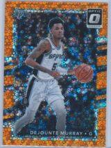 Dejounte Murray Panini Donruss Optic Basketball 2017-18  Fast Break Orange 141193