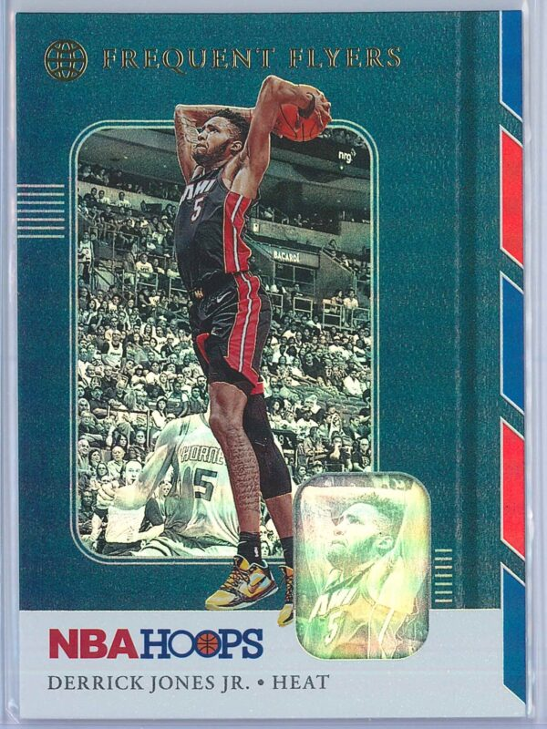 Derrick Jones Jr. Panini NBA Hoops Basketball 2019-20 Frequent Flyers Holo