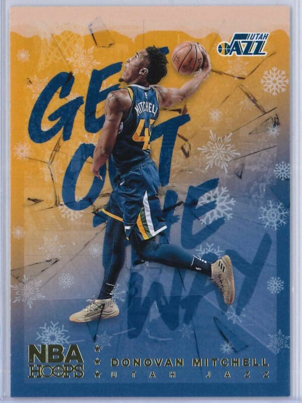 Donovan Mitchell Panini NBA Hoops Basketball 2018-19 Get Out The Way Gold  Winter Edition