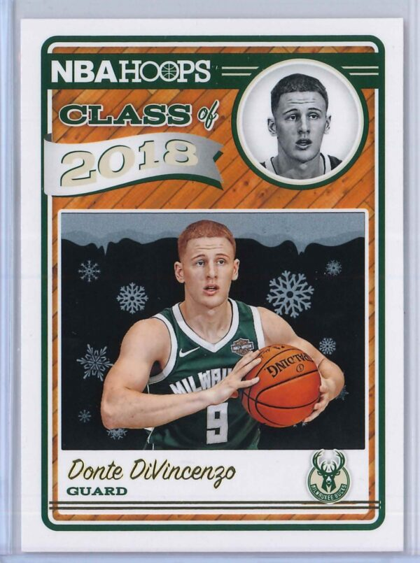 Donte DiVincezo Panini NBA Hoops Basketball 2018-19 Class of 2018 Gold  Winter Edition