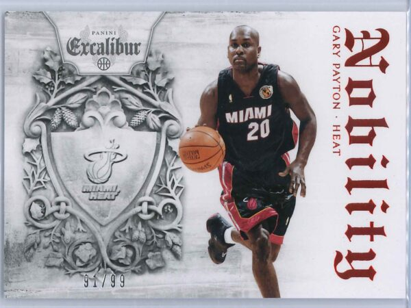 Gary Payton Panini Excalibur Basketball 2014 15 Nobility Red 9199 1