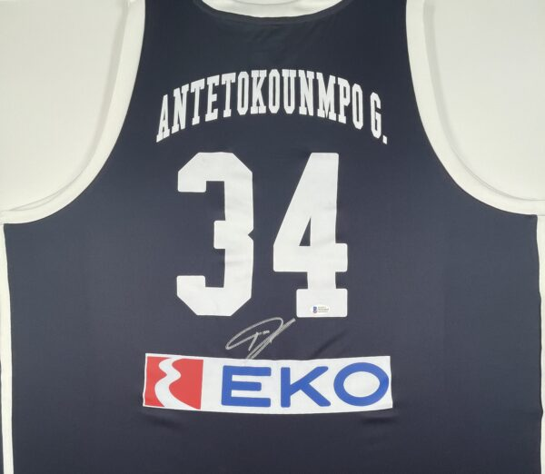 Giannis Antetokounmpo Authentic Signed 2019 Greece National Team Jersey GSA Sport [BAS WF24835]