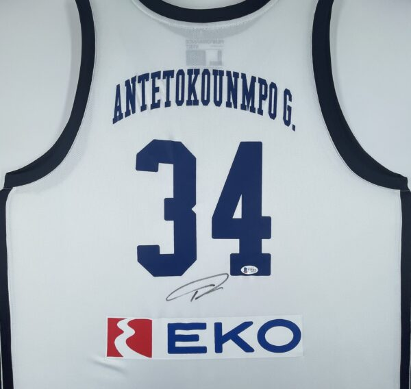 Giannis Antetokounmpo Authentic Signed 2019 Greece National Team Jersey GSA Sport [BAS WF24836]