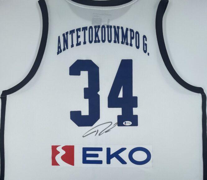 Giannis Antetokounmpo Authentic Signed 2019 Greece National Team Jersey GSA Sport [BAS WF24837]