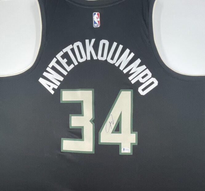 Giannis Antetokounmpo Authentic Signed 2021 Milwaukee Bucks Nike Icon Swingman Jersey [BAS WF24840]