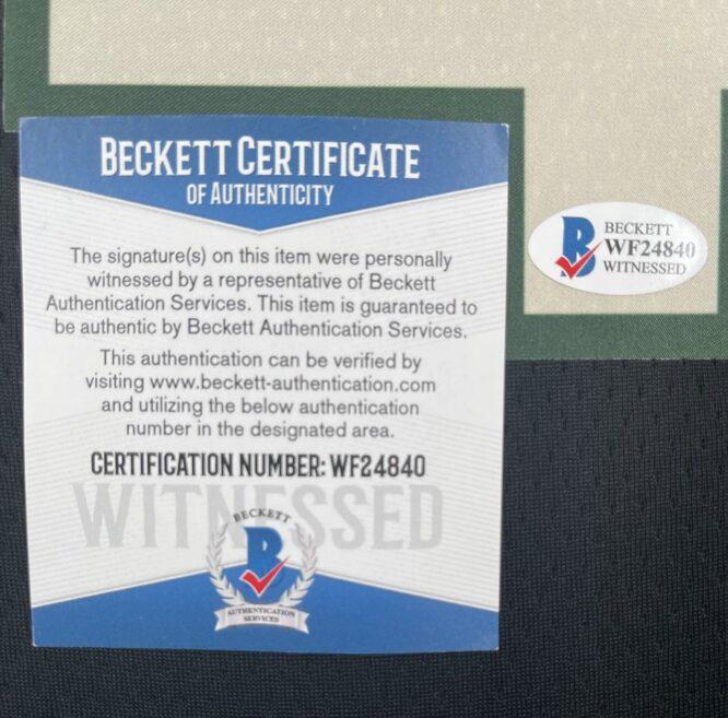Giannis Antetokounmpo Authentic Signed 2021 Milwaukee Bucks Nike Icon Swingman Jersey BAS WF24840 4