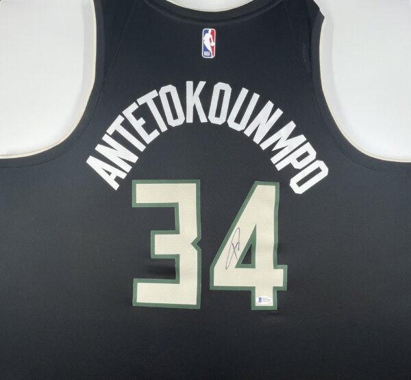 Giannis Antetokounmpo Authentic Signed 2021 Milwaukee Bucks Nike Icon Swingman Jersey [BAS WF24841]