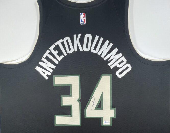 Giannis Antetokounmpo Authentic Signed 2021 Milwaukee Bucks Nike Icon Swingman Jersey [BAS WF24842]