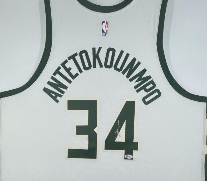 Giannis Antetokounmpo Authentic Signed 2021 Milwaukee Bucks Nike Icon Swingman Jersey [BAS WF24844]