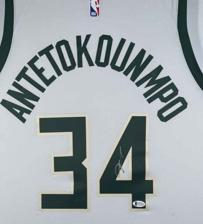 Giannis Antetokounmpo Authentic Signed 2021 Milwaukee Bucks Nike Icon Swingman Jersey BAS WF24844 2