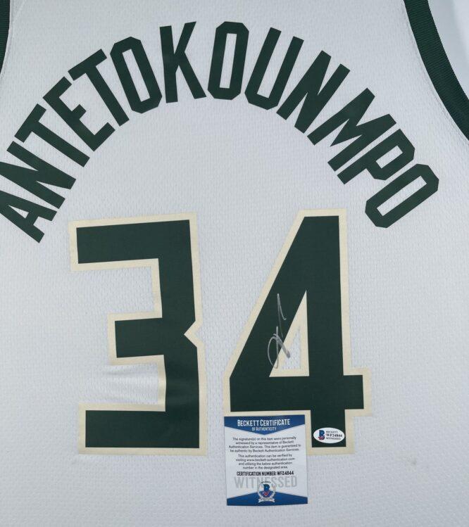 Giannis Antetokounmpo Authentic Signed 2021 Milwaukee Bucks Nike Icon Swingman Jersey BAS WF24844 3