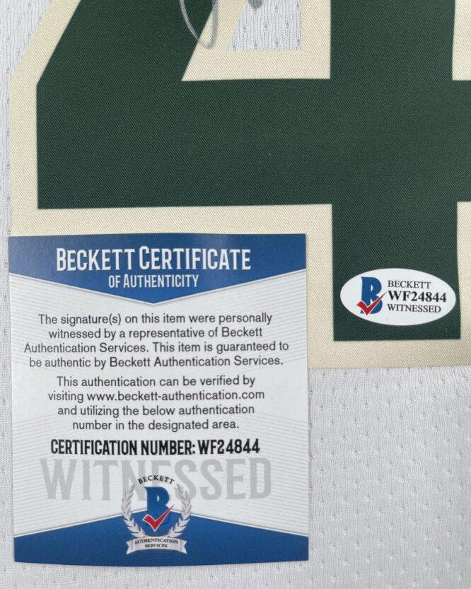 Giannis Antetokounmpo Authentic Signed 2021 Milwaukee Bucks Nike Icon Swingman Jersey BAS WF24844 4