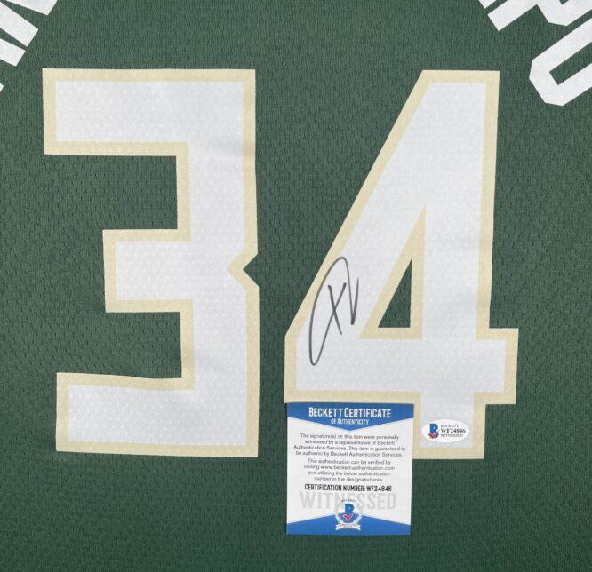 Giannis Antetokounmpo Authentic Signed 2021 Milwaukee Bucks Nike Icon Swingman Jersey [BAS WF24846]