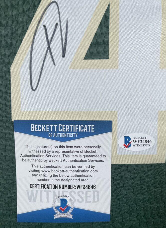 Giannis Antetokounmpo Authentic Signed 2021 Milwaukee Bucks Nike Icon Swingman Jersey BAS WF24846 2