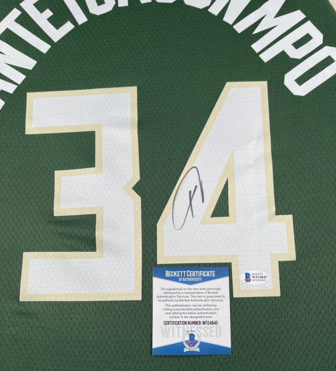 Giannis Antetokounmpo Authentic Signed 2021 Nike Icon Swingman Jersey BAS WF24845 3 scaled