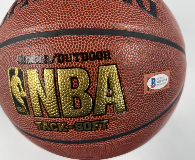Giannis Antetokounmpo Milwaukee Bucks Authentic Signed Brown Spalding Basketball w Gold Signature BAS WH10738 2