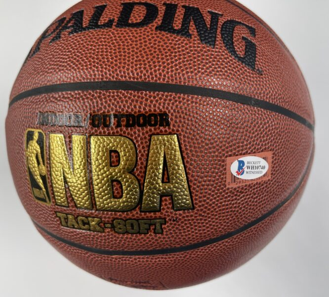 Giannis Antetokounmpo Milwaukee Bucks Authentic Signed Brown Spalding Basketball w Gold Signature BAS WH10740 2