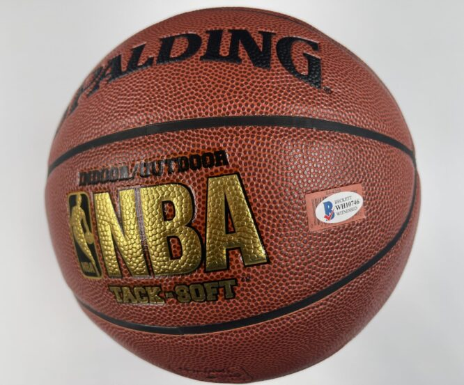Giannis Antetokounmpo Milwaukee Bucks Authentic Signed Brown Spalding Basketball w Gold Signature BAS WH10746 2