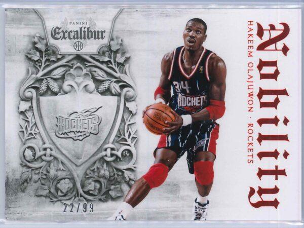 Hakeem Olajuwon Panini Excalibur Basketball 2014 15 Nobility Red 2299 1