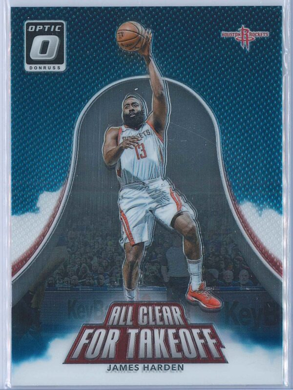 James Harden Panini Donruss Optic Basketball  2017-18 All Clear For Takeoff