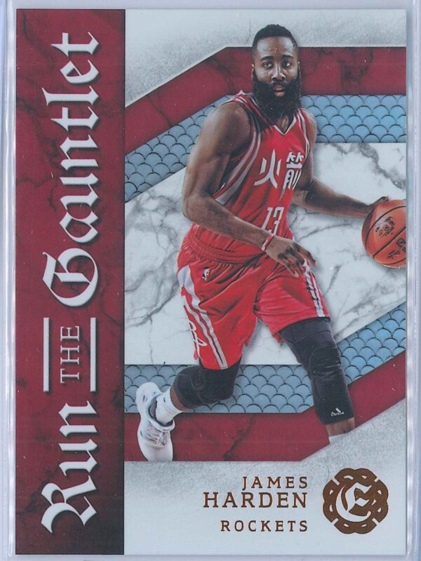 James Harden Panini Excalibur Basketball 2016-17 Run The Gauntlet