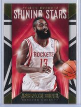 James Harden Panini NBA Hoops 2014 15 Shining Stars Gold 1