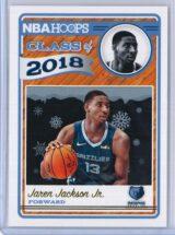 Jaren Jackson Jr. Panini NBA Hoops Basketball 2018-19 Class of 2018 Gold  Winter Edition
