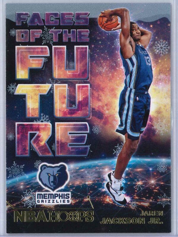 Jaren Jackson Jr. Panini NBA Hoops Basketball 2018-19 Faces Of The Future Gold  Winter Edition