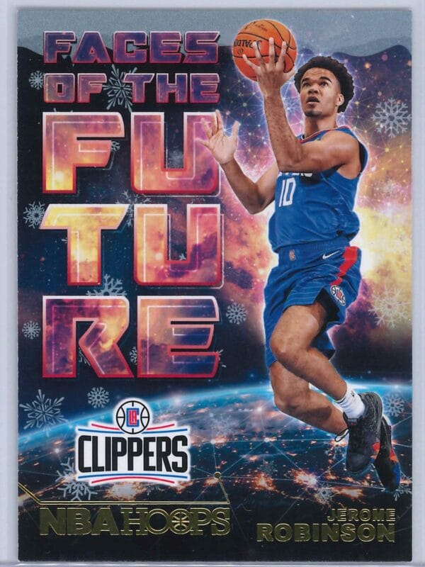 Jerome Robinson Panini NBA Hoops Basketball 2018-19 Faces Of The Future Gold  Winter Edition