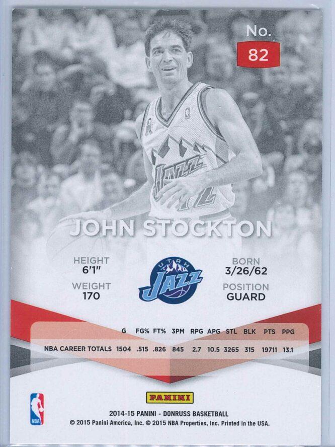 John Stockton Panini Donruss Basketball 2014 15 Elite 2