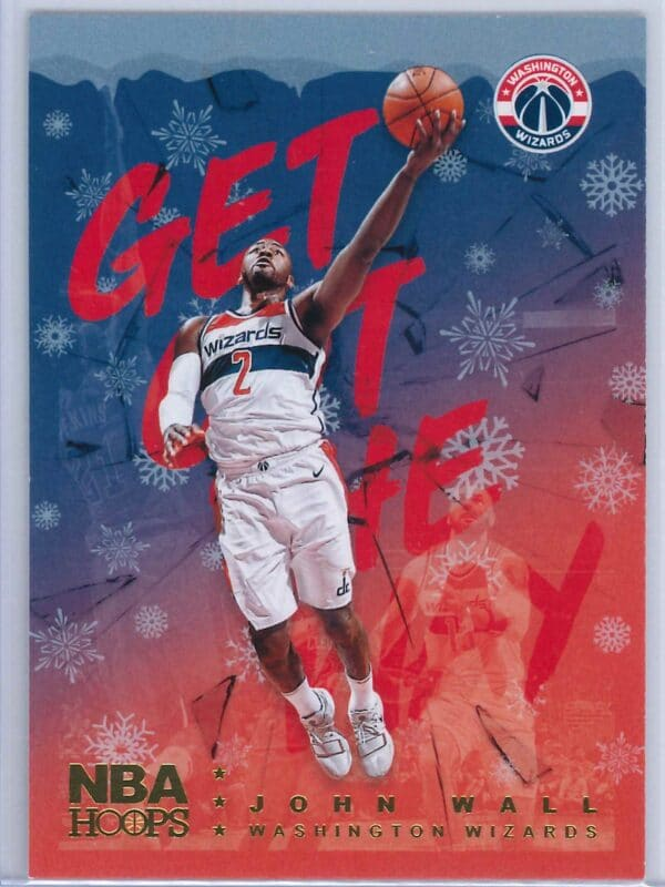 John Wall Panini NBA Hoops Basketball 2018-19 Get Out The Way Gold  Winter Edition