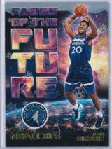 Josh Okogie Panini NBA Hoops Basketball 2018-19 Faces Of The Future Gold  Winter Edition
