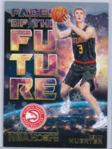 Kevin Huerter Panini NBA Hoops Basketball 2018-19 Faces Of The Future Gold  Winter Edition