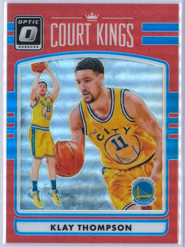 Klay Thompson Panini Donruss Optic Basketball 2016 17 Court Kings Red 0599 1