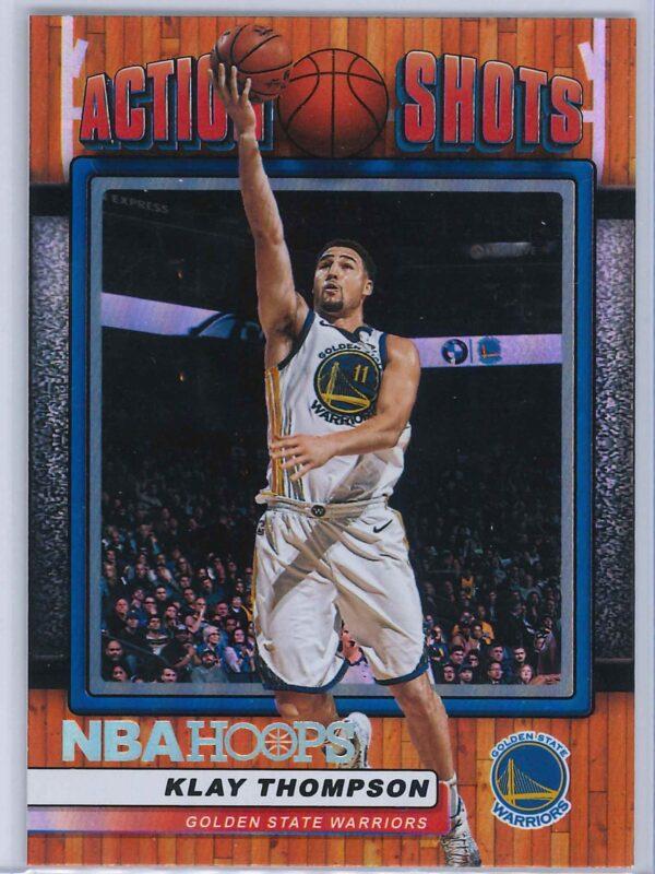 Klay Thompson Panini NBA Hoops Basketball 2018-19 Action Shots