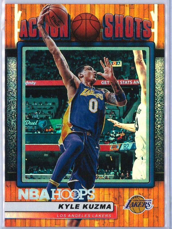 Kyle Kuzma Panini NBA Hoops Basketball 2018-19 Action Shots