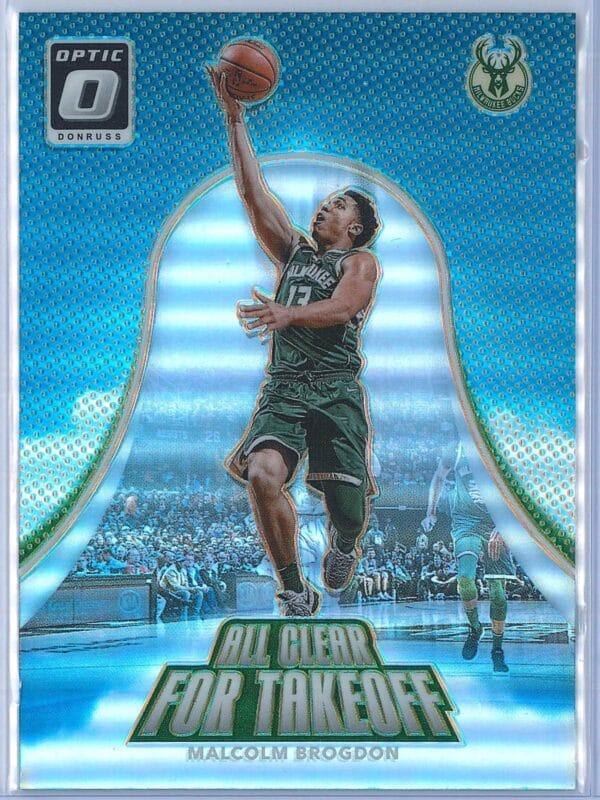 Malcolm Brogdon Panini Donruss Optic Basketball  2017-18 All Clear For Takeoff Holo