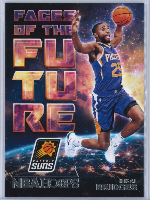 Mikal Bridges Panini NBA Hoops Basketball 2018-19 Faces Of The Future