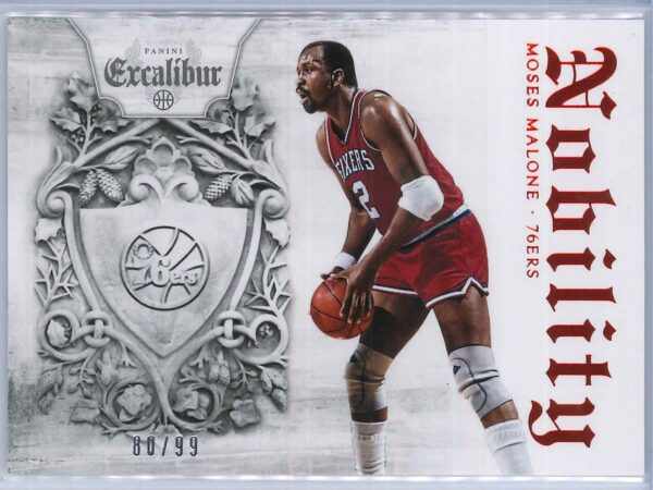 Moses Malone Panini Excalibur Basketball 2014 15 Nobility Red 8099 1