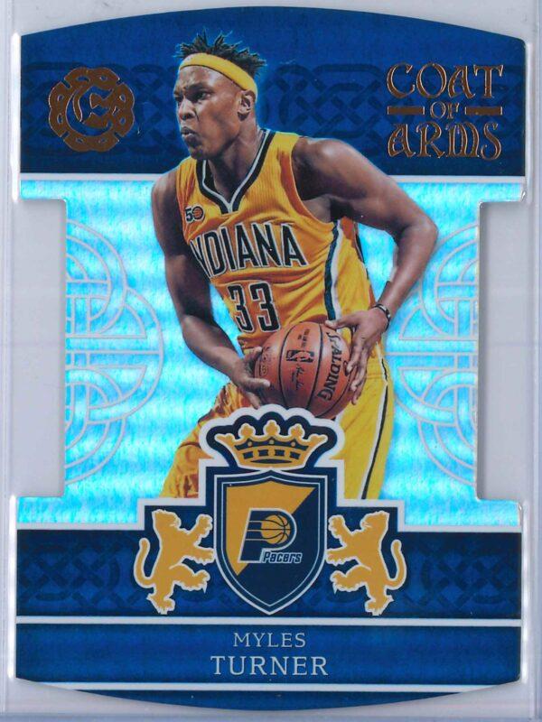 Myles Turner Panini Excalibur Basketball 2016-17 Coat Of Arms