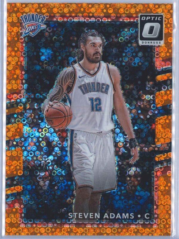 Steven Adams Panini Donruss Optic Basketball 2017-18  Fast Break Orange 007193