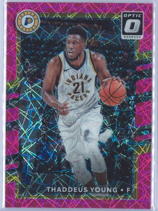 Thaddeus Young Panini Donruss Optic Basketball 2017-18  Pink Velocity 1879