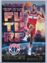 Troy Brown Jr. Panini NBA Hoops Basketball 2018-19 Faces Of The Future Gold  Winter Edition