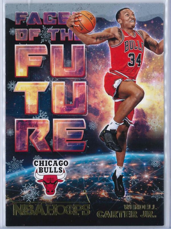 Wendell Carter Jr. Panini NBA Hoops Basketball 2018-19 Faces Of The Future Gold  Winter Edition