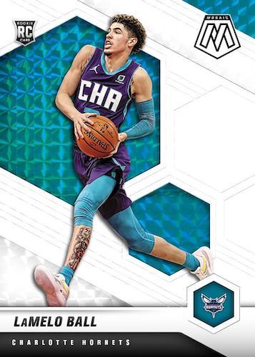 2020 21 Panini Mosaic Basketball NBA Cards Base Mosaic Rookies White LaMelo Ball RC