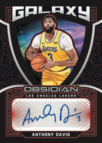 2020 21 Panini Obsidian Basketball NBA Cards Galaxy Autographs Anthony Davis auto